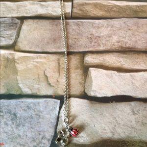 Lady bug Flower necklace